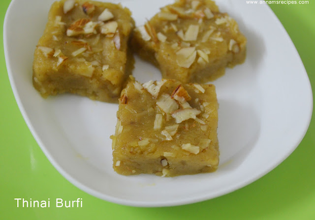 Thinai Burfi