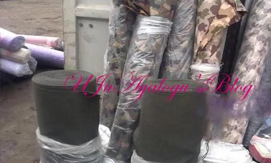 Customs seizes 1,398 rolls of military uniforms