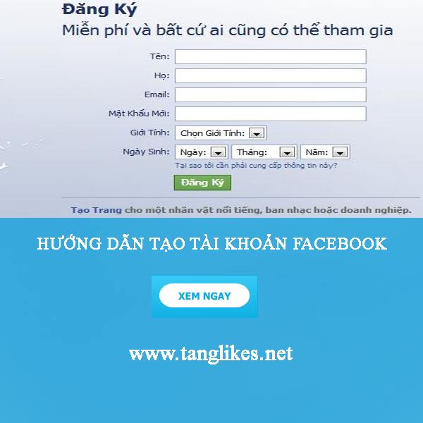 hướng dẫn tạo nick facebook nhanh nhất
