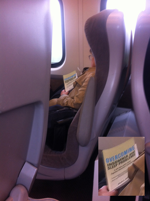 35 Hilarious Pictures Capturing Ironic Moments - Saw This Lady Asleep On The Train Today