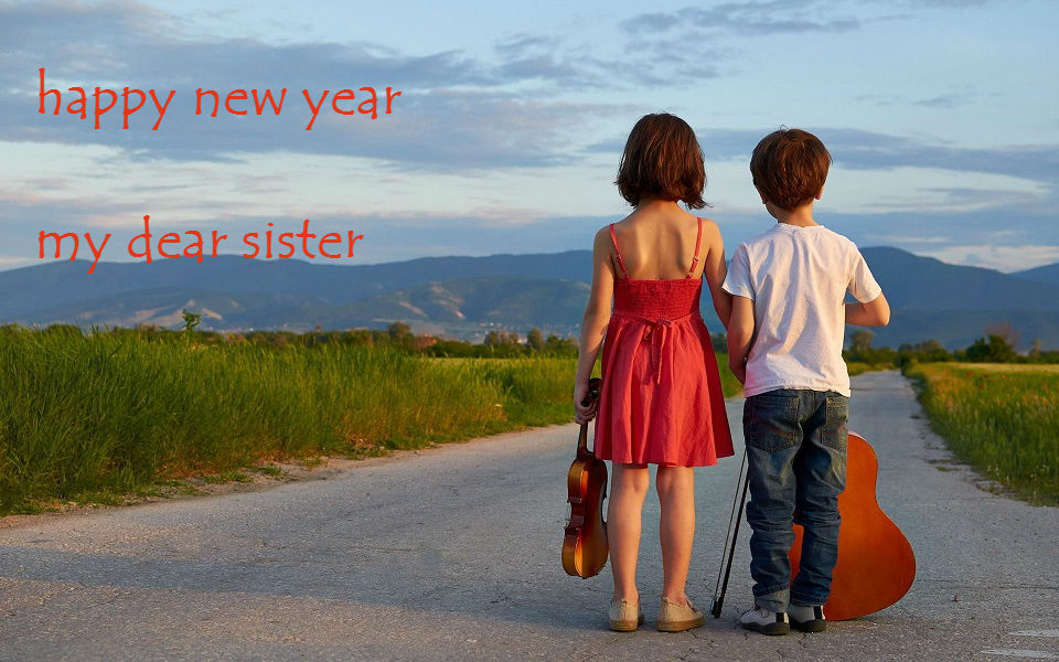 new year hd pictures for sister