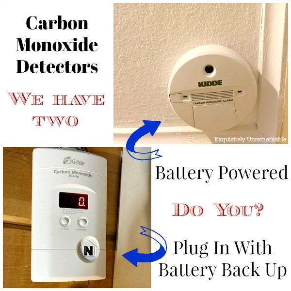 Carbon Monoxide Detectors  Battery Powered and Plug In Why we have two