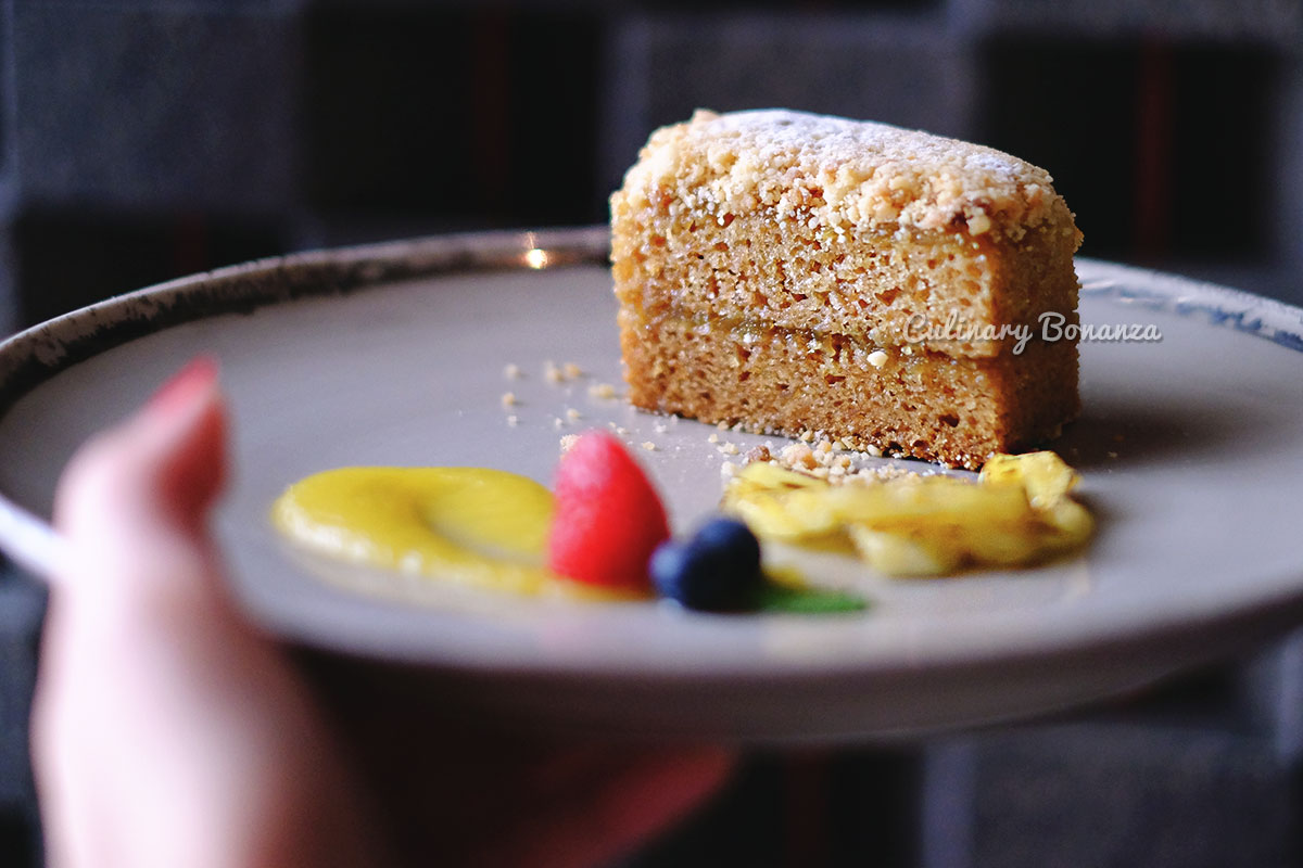 Nastar Cake - golden pineapple sponge cake topped with butter crumble - 1945 Indonesian Fine Dining (www.culinarybonanza.com)