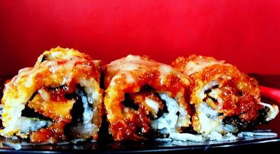 Menu Terbaru dari Kedai Mie Dahsyat Peudes yaitu Sushi Scramble Katsu