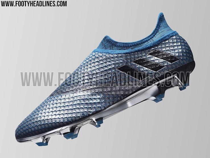 3b2c33f8f7b This image is the first to show the (almost) laceless Adidas Messi  PureAgility soccer boots.