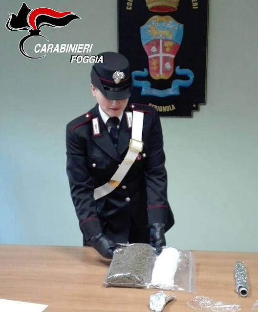 Donna con in casa 200 gr di marijuana. Arrestata a Cerignola dai Carabinieri