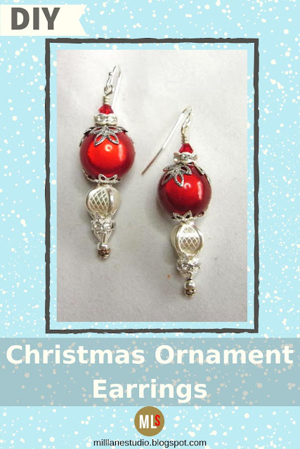 Christmas Ornament Earrings inspiration sheet