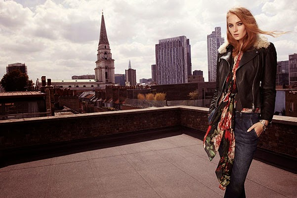 Sophie Turner - the face of British fashion brand