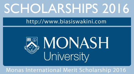 Monash International Merit Scholarship 2016