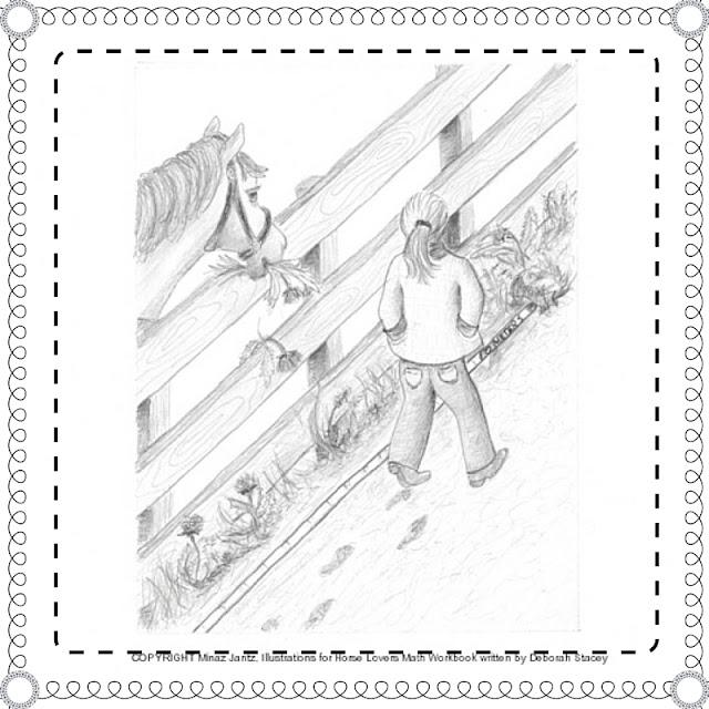 Horse Lovers Math illustrations by Minaz Jantz