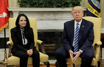 Aya Hijazi and Trump