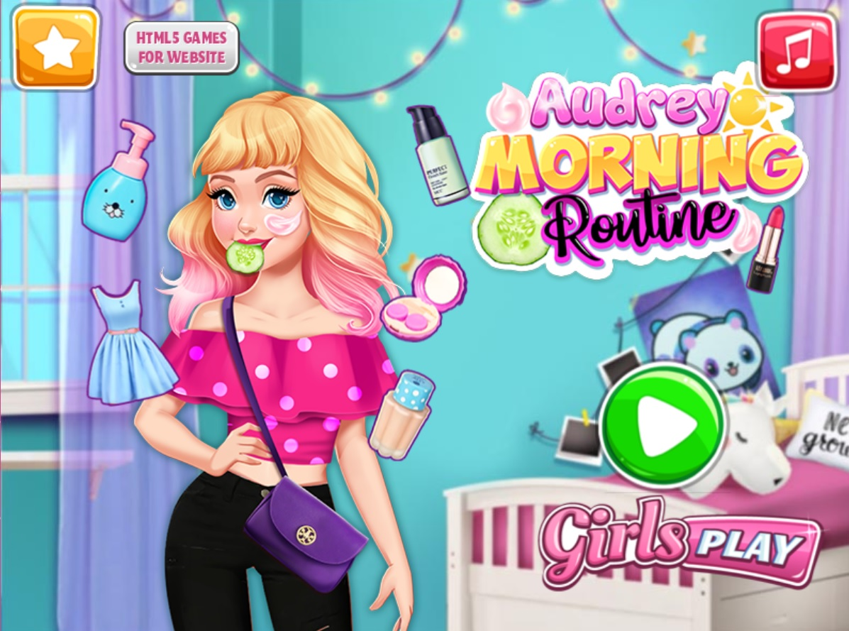 Join our lovely girl, Audrey, and find out the latest tips in make-up and morning routine trends! Learn how to do a total makeover, try the healthy treatments so the skin can be protected and clean, after that apply make-up and add some fashionable outfits and the look of the day is done!