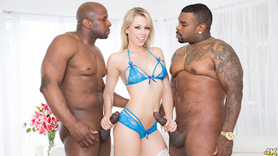 Zoey Monroe (Dp'd, Opens Up Her Holes For Two Big Black Cocks )[JulesJordan]