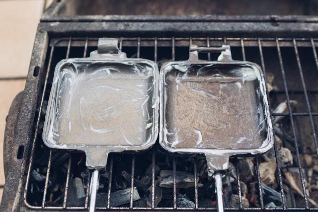ROME Pie Iron – Sandwicheisen  Sandwiches am Lagerfeuer  Waffeleisen aus Gusseisen 10