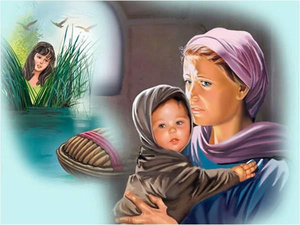 Resultado de imagem para moises com tres meses NA BIBLIA QUANDO CRIANÇA