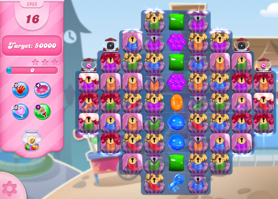 Candy Crush Saga level 2962