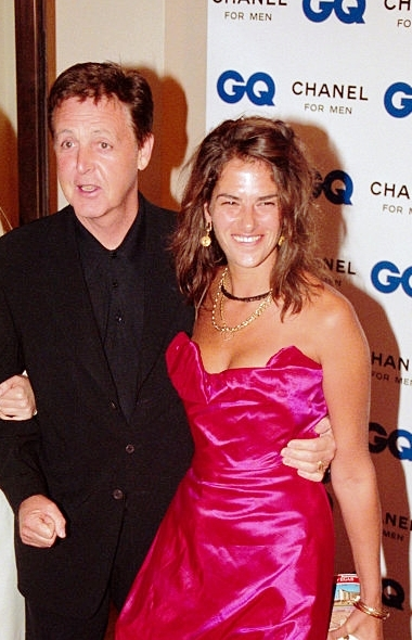 Paul McCartney Attends The GQ Man Of Year Award Ceremony With Artist Tracey Emin Right September 05 2000