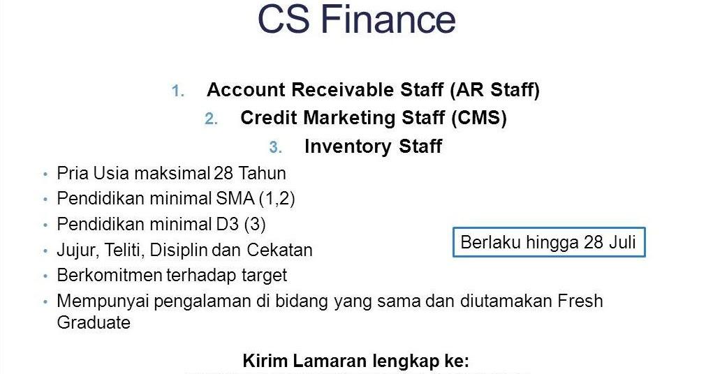 Lowongan Kerja Finance  Wisata Dan Info Sumbar