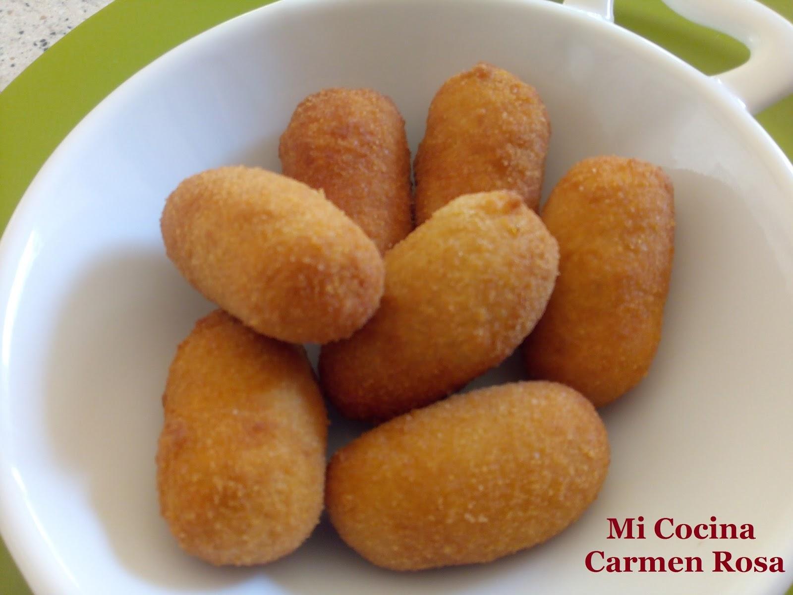 Mi cocina croquetas de langostinos al pil pil o al pimpi for Mi cocina malaga