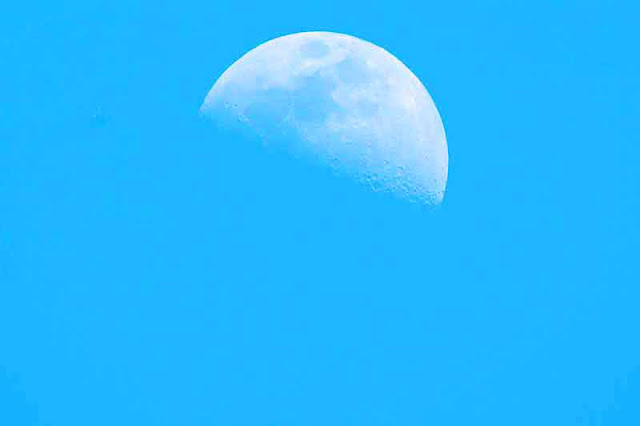 Waxing Gibbous, moon, image, 4PM