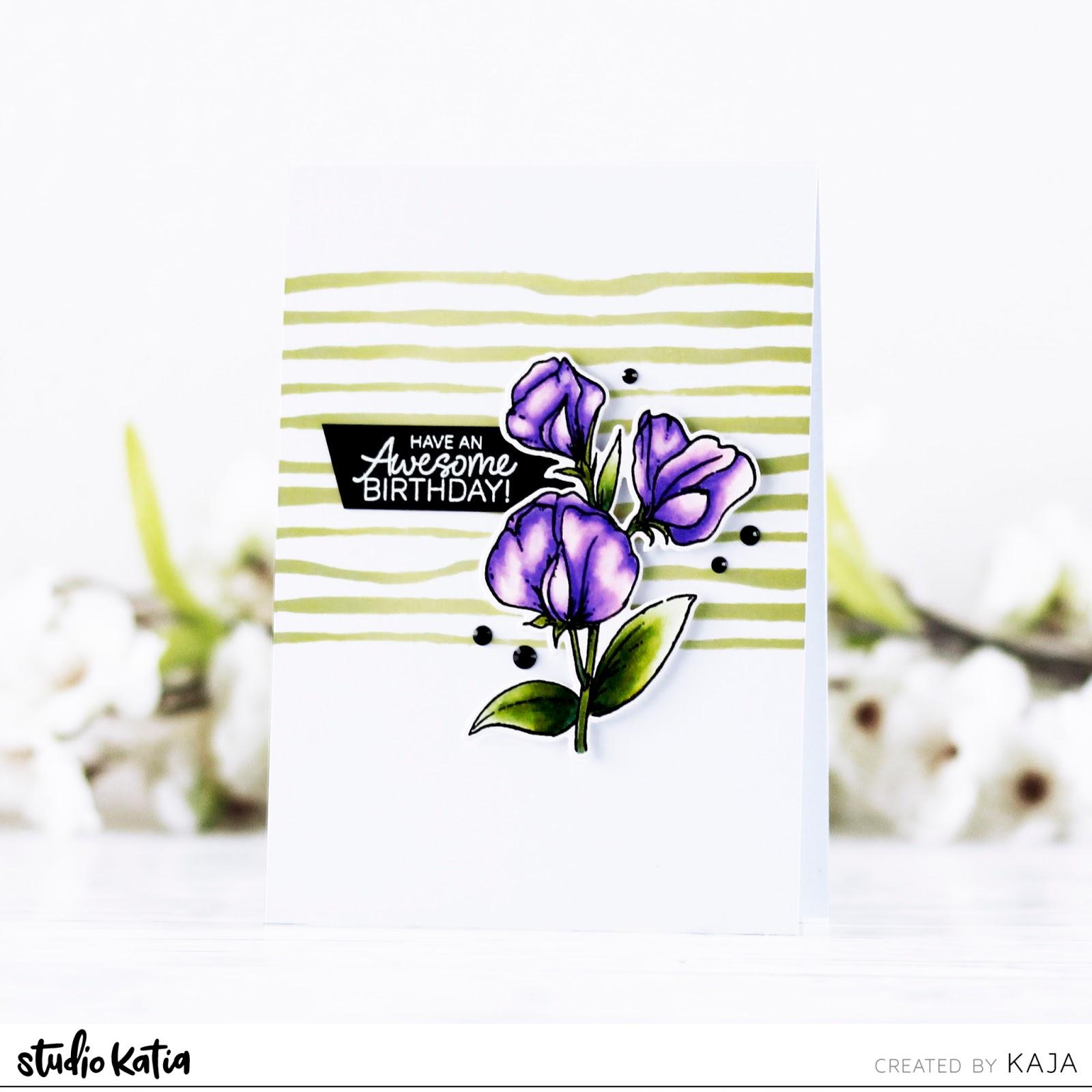 Elegant floral card | STUDIO KATIA