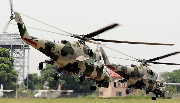 naf fighter jets bomb boko haram base sambisa forest
