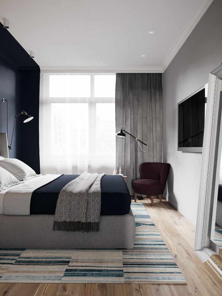 Zona de lectura en dormitorio