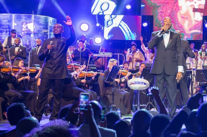 Joe Mettle performs with Donnie McClurkin at Gospel Goes Classical live recording.