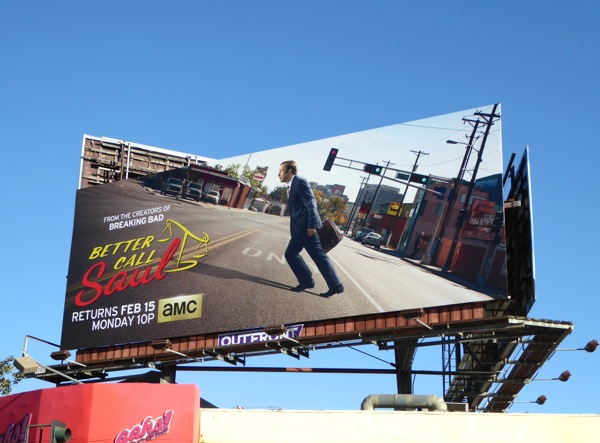 Better Call Saul season 2 AMC billboard