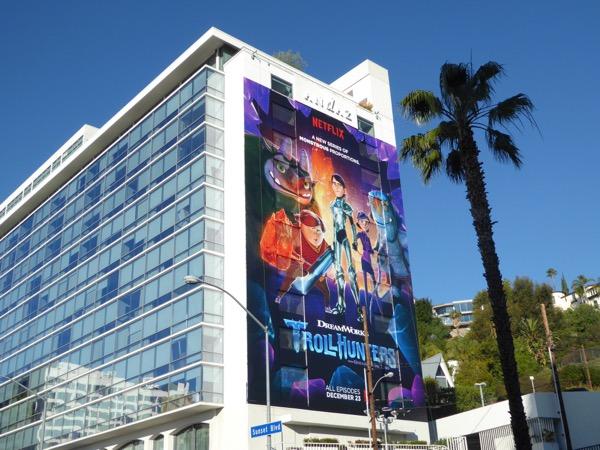 DreamWorks Trollhunters Netflix series billboard