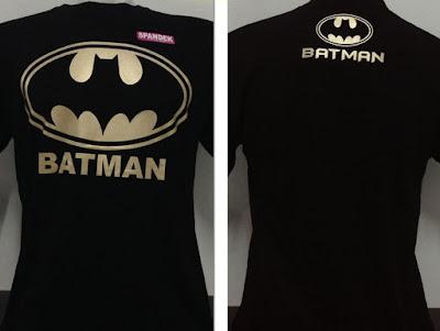 Kaos Superhero Logo Batman Gold