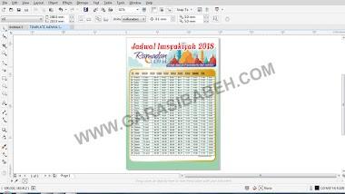 Template Jadwal Imsyakiyah Ramadhan 2018 1439H coreldraw