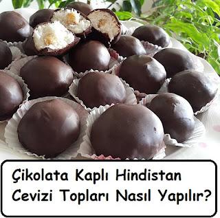 Çikolata Kaplı Hindistan Cevizi Topları Nasıl Yapılır
