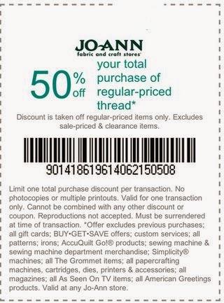 Joann Fabrics Printable Coupons September 2015