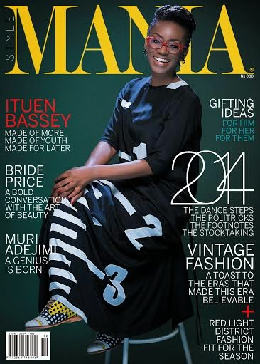 Ituen Bassey covers Mania magazine celebration issue as the mag unfolds into the New Year