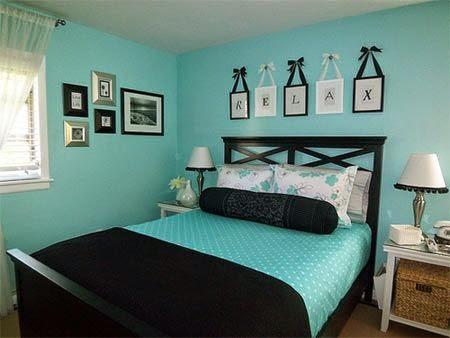decoração de quarto de menina azul