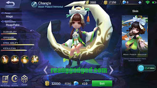 Adiknya Zilong? Chang'e Hero Baru di Mobile Legends
