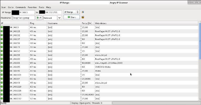 angry IP scanner untuk hack CCTV