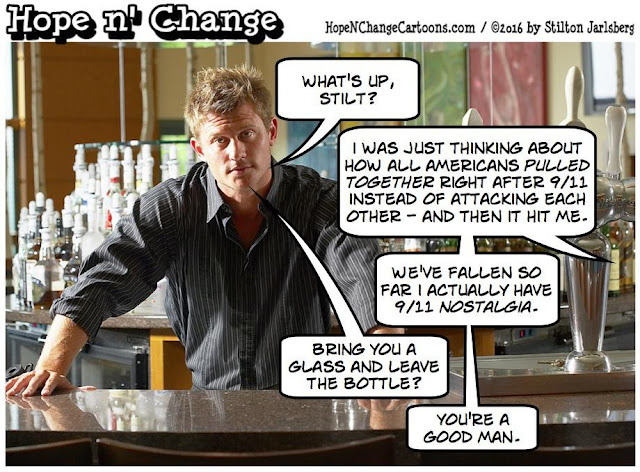 obama, obama jokes, political, humor, cartoon, conservative, hope n' change, hope and change, stilton jarlsberg, terror, orlando, 9/11, nostalgia