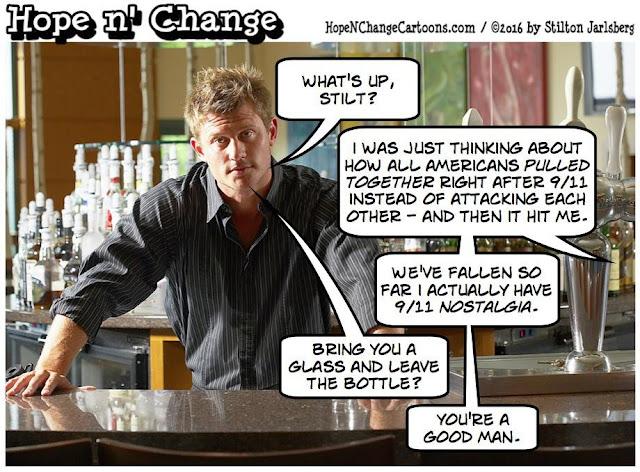 obama, obama jokes, political, humor, cartoon, conservative, hope n' change, hope and change, stilton jarlsberg, terror, orlando, 9/11, nostalgia