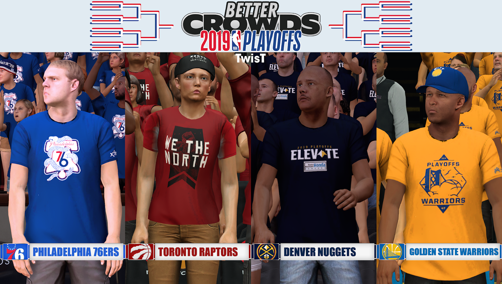 ca146245b44b NBA 2K19 - Crowds 2019 Playoffs Update 5 by TwisT - Shuajota