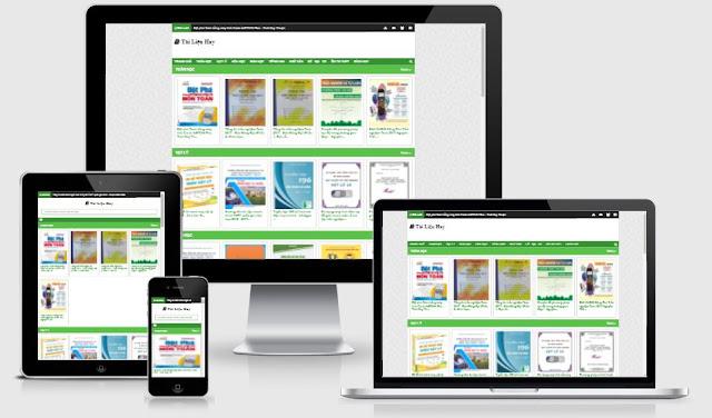 Template bán và chia sẻ sách blogger