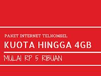 Paket Internet Midnite Telkomsel Mulai 5 ribuan Kuota Hingga 4GB