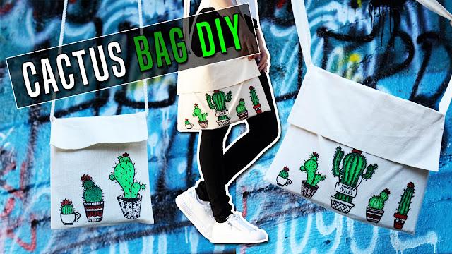 Back to school BAG DIY: Cactus tote bag / Vissza a suliba DIY: Kaktusz táska
