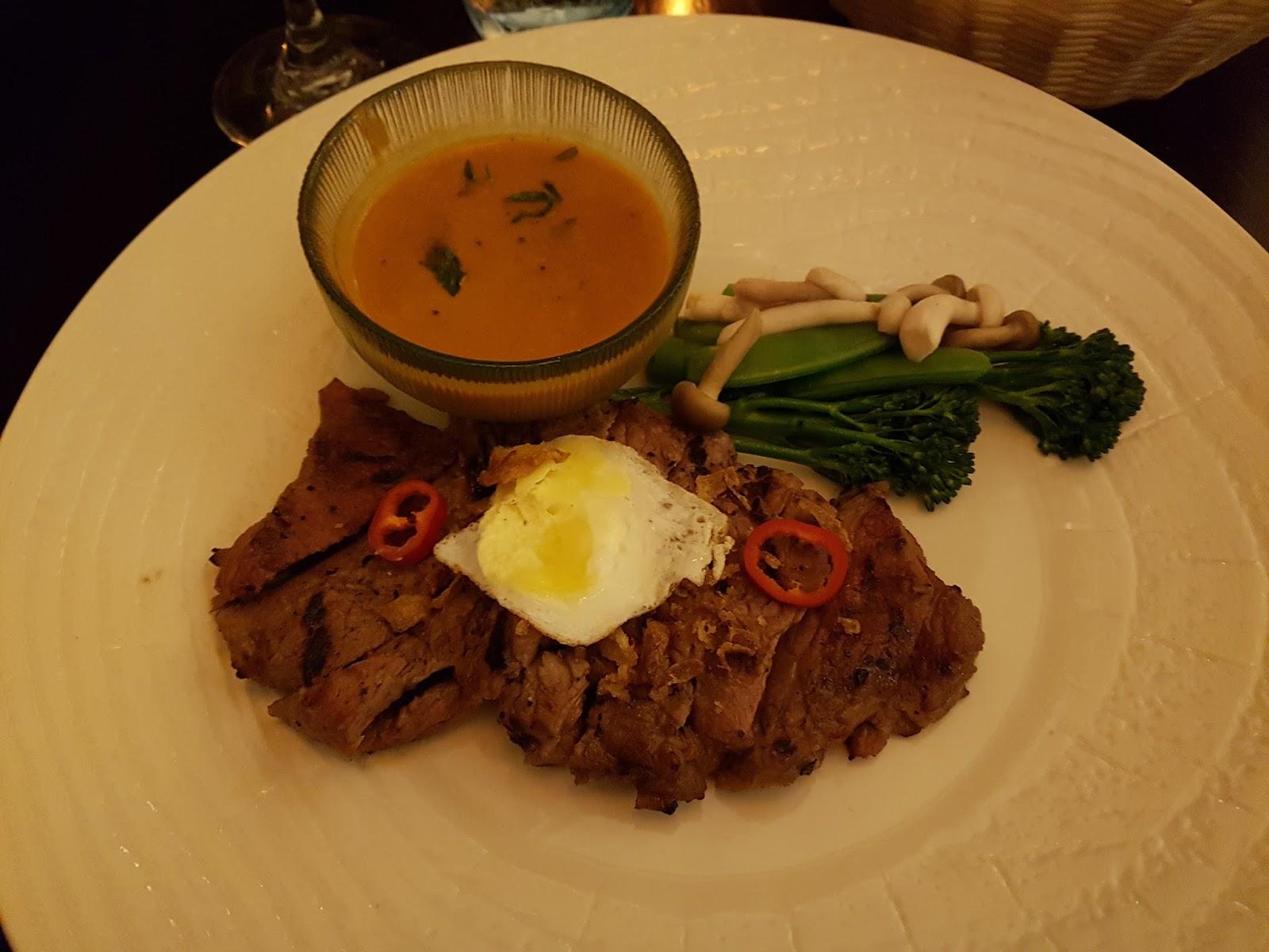 Chamber Aged Sirloin Steak - Nua Sirloin Yang Cook your own seared 8oz sirloin stead on a Himalayan rock salt block!
