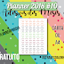 Planner #10: Adesivos de meses para você usar no seu planner ou bullet journal (gratuito para download)