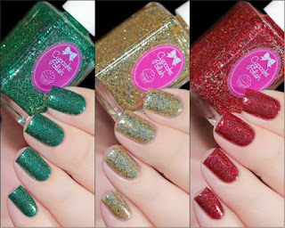 Novos esmaltes cupcake polish jingle bell