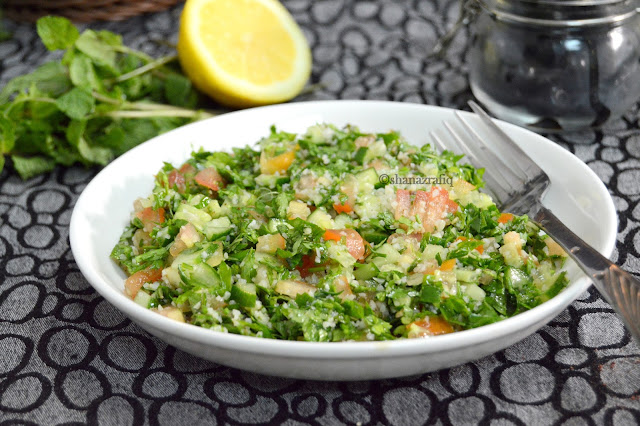 Tabbouleh ~ Arabic Style Parsley Salad