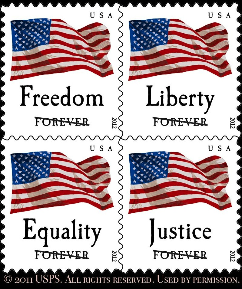 Non Denominated First Class Flag Stamps
