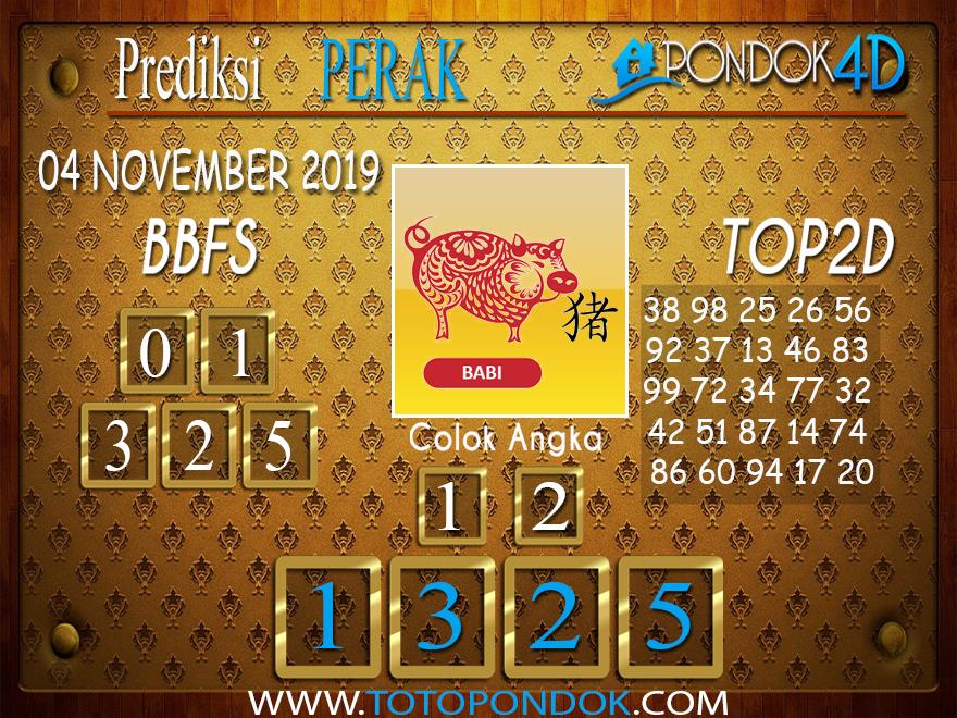 Prediksi Togel PERAK PONDOK4D 04 NOVEMBER 2019